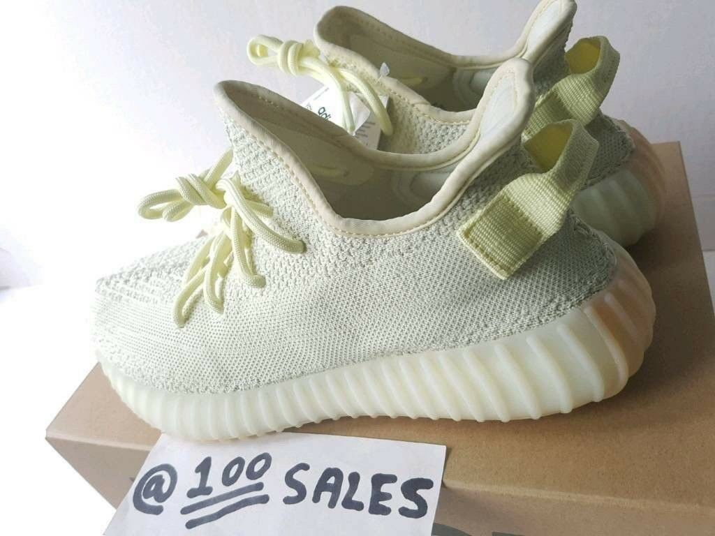 0a60347555e ADIDAS x Kanye West YeezyBoost 350 V2 BUTTER F36980 UK10.5 EU45 1 3 US11  FOOTLOCKER RECEIPT 100sales
