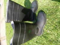 Unworn Wellington Boots Steel Toe Cap Size 9
