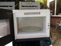 Whirlpool microwave in silver