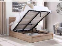 Double Storage Oak Effect Bed