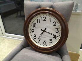 Marks and spencer dark wood wall clock