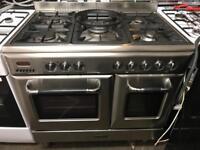 Scandinova range gas cooker and electric ovens 90cm