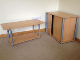 Cupboard and matching coffee table (price includes both)