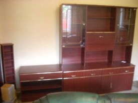 DISPLAY CABINET & SIDE UNIT VGC . can deliver locally .