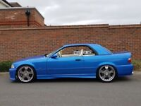 SHOW CAR BMW M3 3.2 EVO CONVERTIBLE ESTORIL BLUE + HIGHLY MODIFIED + VERSACE INTERIOR+HARDTOP+FBMWSH