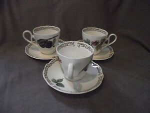 Set-of-3-Noritake-Royal-Orchard-Cups-and-Saucers