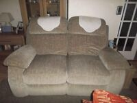 2+3 seater sofas both with recliners