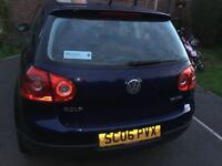 Volkswagen Golf FSI 06 plate navy full service history & 11 months m.o.t