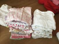 First size/newborn sleepsuits and vests £15