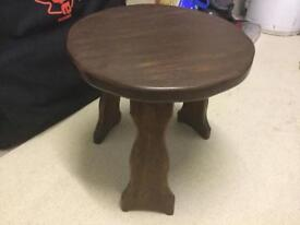 Dark wood sturdy table