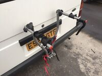 Locking tow bar bike rack for two bikes good condition