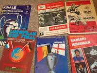 300+ football programmes mostly Rangers, league, champions league, European, international, Scottish