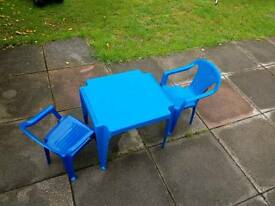Childs outdoor table and chairs