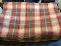2 Thermal Blackout Roman Blinds, Red Highland Check From Dunelm. Large & medium