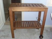 Wheeled coffee table perfect as a small CHANGING TABLE in limited space