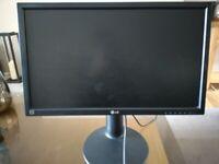 LG monitor, 24 inch led screen