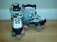 Roller skates, SFR Typhoon brand, adjustable size 12-2, excellent condition, light-up wheels