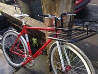 No logo bike with basket and drop handle bar