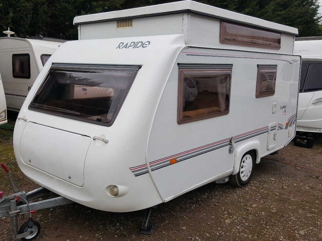 Rapido Club 40 TCA Evolution Pop Top Caravan With Awning And Omnistor Wind Out