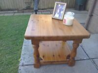 Solid honey pine coffee table. Excellent condition