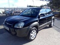 Hyundai Tucson CDX, 4WD, 5 door, Manuel, Full leather, Petrol, Nice condition, Eleven months MOT.