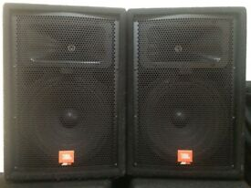 JBL JRX112m (Pair) PA with KAM KBA15 Power Amp in Flight Case, great condition!