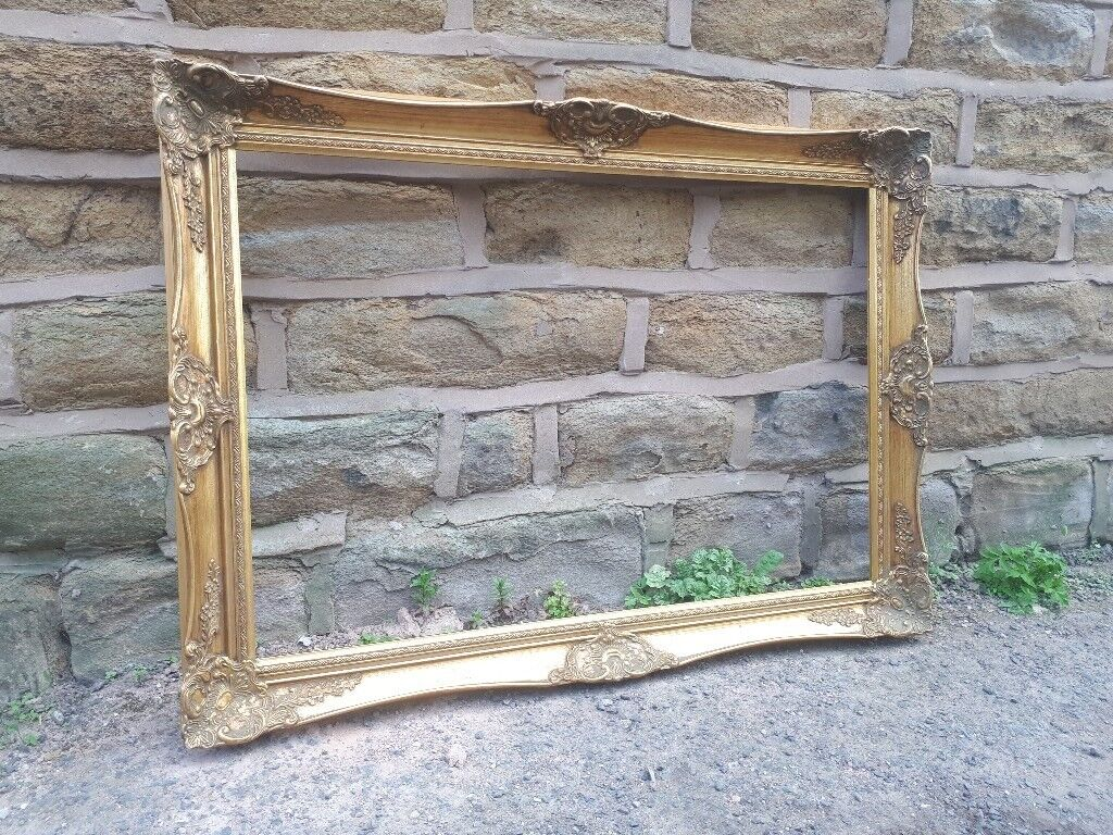 Large Vintage Antique French Picture Photo Frame Gold Gilt Gilded