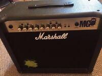 Marshall MG30CFX Guitar Amp+Marshall Foot Controller Like New!