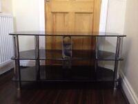 large tv stand and coffee tabls