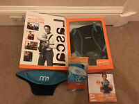 Lascal M1 baby carrier - excellent condition and (boxed) cover