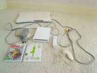 WII CONSOLE PLUS WII FIT BOARD, CONTROLLER AND 2 GAMES