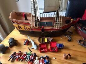 Playmobil Large Pirate Ship Bundle