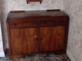 Very nice Antque/Art Deco side board with opening top