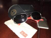 Genuine Ray-Ban RB3445 Red-handled Sunglasses