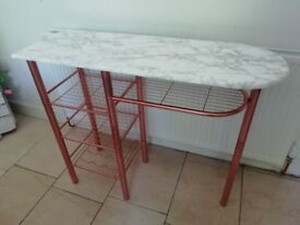 COPPER AND MARBLE EFFECT BREAKFAST BAR
