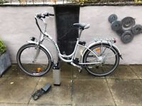Cyclamatic GTE Electric Bike as new -hardly ever used --spare battery and keys -buyer collects