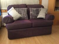 Two Seater Sofa - Plum