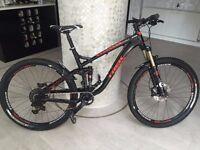 Trek Fuel Ex 9 650B 2015 full suspension mountain bike (Large)
