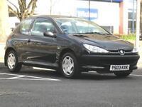 2003 (PEUGEOT 206 1.4 LOOK2 - Hatch 3 Door - Petrol - Manual - BLACK *MOT/1 OWNER/PX WELCOME/CHEAP R