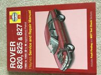 Rover 820, 825, and 827 service and repair manual