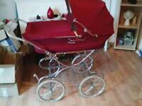 Vintage Royale pram with sun canopy