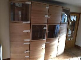 Cabinet and side unit