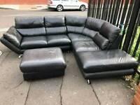 Corner group sofa and pufee