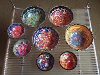 New, Set of 8 Turkish art handmade small/mini bowls