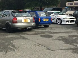Honda civic b18c4 180bhp!!ej9 ek9 vti vtec b16 b series turbo ep3 gti vts golf audi type r track car