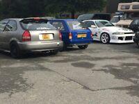 Honda civic b18c4 180bhp!!ej9 ek9 vti vtec b16 b series turbo ep3 gti vts golf audi type r track car