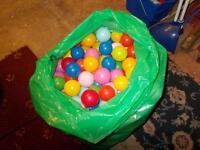 Large bag of plastic balls.