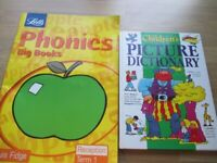 Letts Phonics Book (Big Book) + Children's Picture Dictionary - Used
