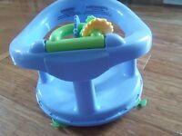 Baby swivel bath seat blue