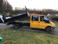 Ford transit crew cab tipper